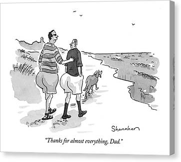 Thank Canvas Print - Thanks For Almost Everything by Danny Shanahan