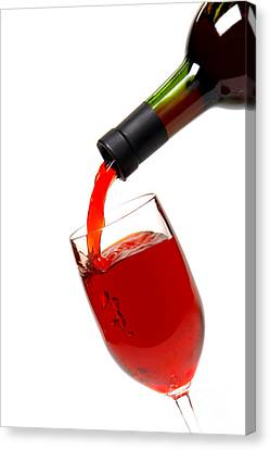 Pouring Wine Canvas Print - Thanks by Olivier Le Queinec