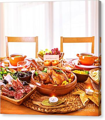 Autumn Soup Canvas Print - Thanksgiving Day Dinner by Anna Om