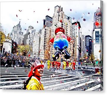 Thanksgiving Parade Canvas Print by Nishanth Gopinathan