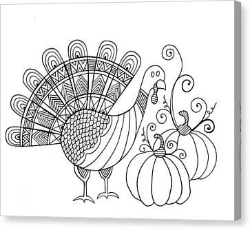 Thanksgiving Turkey Canvas Print