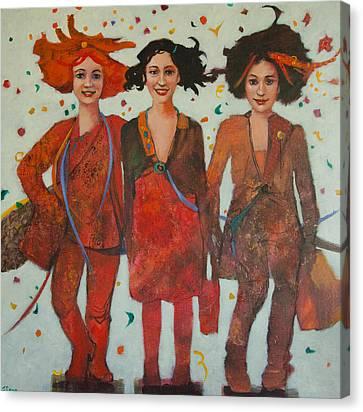 That Friday Feeling Canvas Print by Jennifer Croom