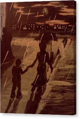 That  Rainy Night  Canvas Print by Renee McKnight