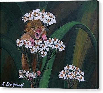 That Tickles Canvas Print by Sharon Duguay
