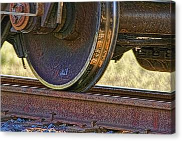 That Train Just Keeps A Rollin Canvas Print by Gary Holmes