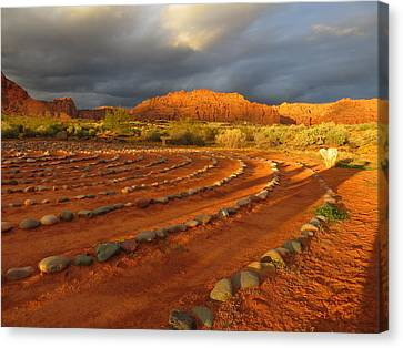 Canvas Print featuring the photograph St George, Utah by Jean Marie Maggi
