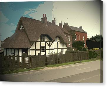 Thatch Cottage,  Coton In The Clay, Perfectly Presented Canvas Print