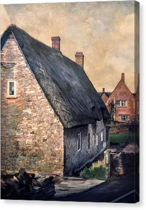 Thatch Roof Cottage Canvas Print