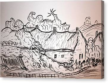 Thatched Cottage Canvas Print by Paul Morgan