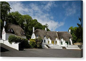Thatched Cottages Near Dunmore Canvas Print by Panoramic Images