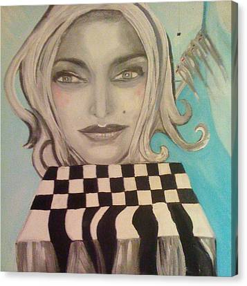 That's Not A Chessboard Canvas Print by Mlle Marquee