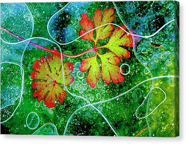 Geranium Canvas Print - Thaw by Andres Miguel Dominguez