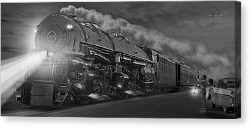 The 1218 On The Move - Panoramic Canvas Print by Mike McGlothlen