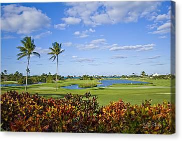 The 18th Green At Ocean Club Golf Course Canvas Print