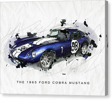 The 1965 Ford Cobra Mustang Canvas Print by Gary Bodnar