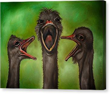 Emu Canvas Print - The 3 Tenors Edit 2 by Leah Saulnier The Painting Maniac