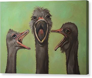 Emu Canvas Print - The 3 Tenors by Leah Saulnier The Painting Maniac
