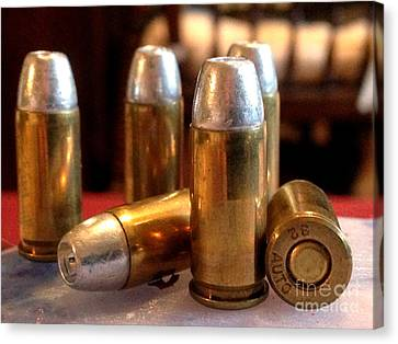 Bullet Art 32 Caliber Hollow Point Bullet 1 Canvas Print by Lesa Fine