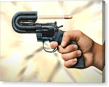 The 44 Magnum Justifier Canvas Print by Mike McGlothlen