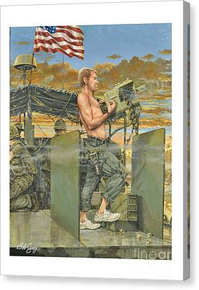 The 458th Transortation Co. In Vietnam. Canvas Print by Bob  George