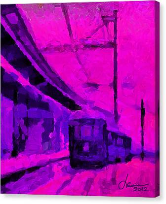 The 7am Train Tnm Canvas Print by Vincent DiNovici