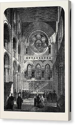 The Abbey Church Of Waltham Holy Cross The New East End Canvas Print by English School