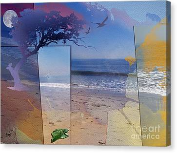 The Abstract Beach Canvas Print by Bedros Awak