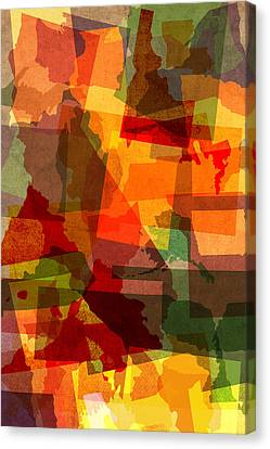 The Abstract States Of America Canvas Print by Design Turnpike