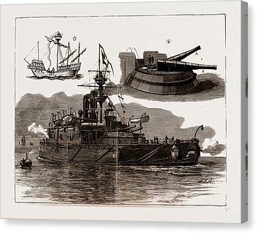 Collingwood Canvas Print - The Accident On Board H.m.s. Collingwood by Litz Collection