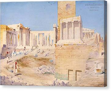 The Acropolis At Athens, 1844 Wc On Paper Canvas Print