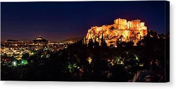 The Acropolis Canvas Print by Babak Tafreshi