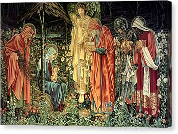 The Adoration Of The Kings Canvas Print by Bradley Skeen