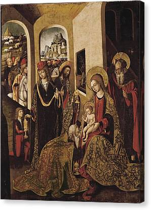 Betrothed Canvas Print - The Adoration Of The Magi. 15th C by Everett