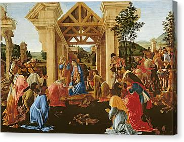 The Adoration Of The Magi Canvas Print by Sandro Botticelli