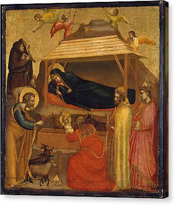 The Adoration Of The Magi Canvas Print by Giotto di Bondone