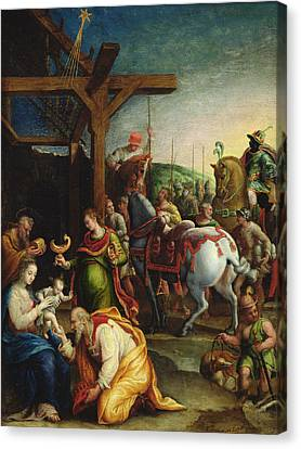 Gold Star Mother Canvas Print - The Adoration Of The Magi by Lavinia Fontana