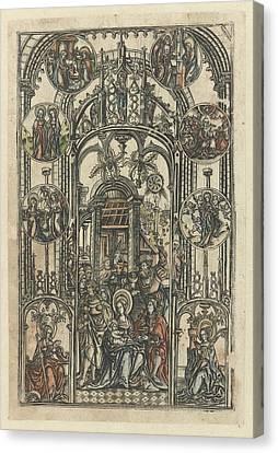 St Barbara Canvas Print - The Adoration Of The Magi, Monogrammist S 16e Eeuw by Monogrammist S