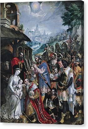 The Adoration Of The Magi  Canvas Print by Maarten de Vos