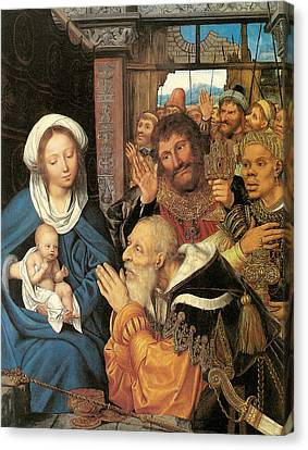 The Adoration Of The Magi Canvas Print by Quentin Massys