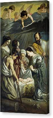 The Adoration Of The Shepherds Canvas Print by Antoine and Louis Le Nain