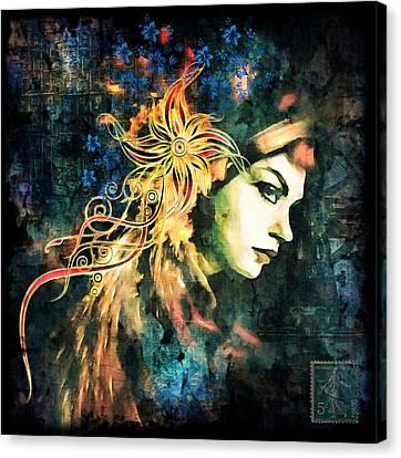 The Adultress Grunge Art Canvas Print by Georgiana Romanovna