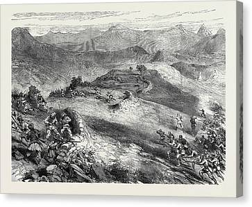 The Afghan War Storming Of The Spingawai Stockade Morning Canvas Print by English School
