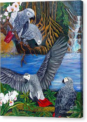 Tolan Canvas Print - The African Grey Parrots by To-Tam Gerwe