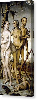 The Ages Of Man And Death Canvas Print by Hans Baldung