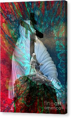 The Agony And The Ecstacy Canvas Print by Rick Rauzi