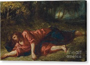 The Agony In The Garden Canvas Print by Ferdinand Victor Eugene Delacroix