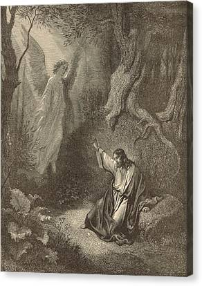 The Agony In The Garden Canvas Print by Antique Engravings