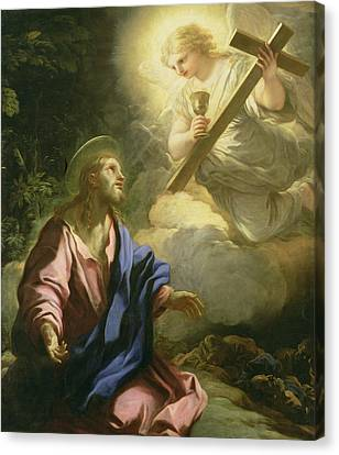 The Agony In The Garden Canvas Print by Luca Giordano