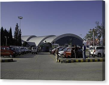 The Airport In Srinagar The Capital Of Jammu And Kashmir Canvas Print by Ashish Agarwal
