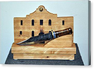 Arkansas Toothpick Canvas Print - The Alamo Bowie Sold by Roger D Hale